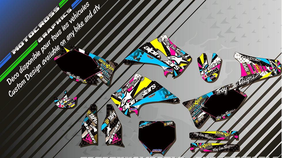 """""""ALPINESTARS CA4A"""" Graphic kit KAWASAKI KX 125 & 250"""