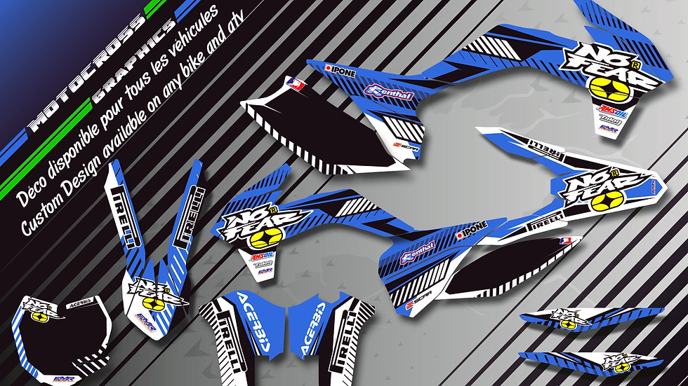 """NO FEAR CA5E"" Graphic kit YAMAHA YZ 125 & 250"