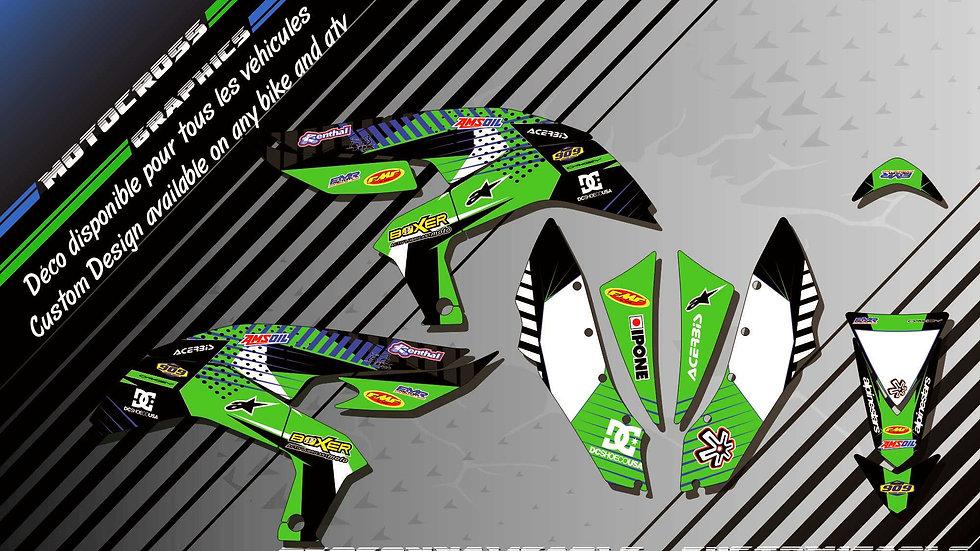 """BOXER CA1B"" Graphic kit KAWASAKI KFX 450"