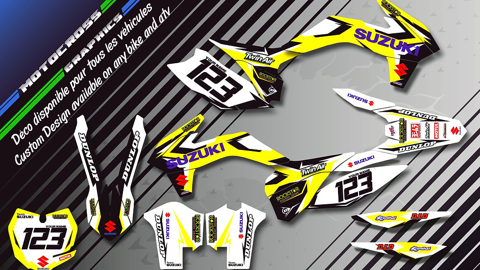 """Factory Replica SUZUKI CA10D"" Graphic kit SUZUKI RMz 250"