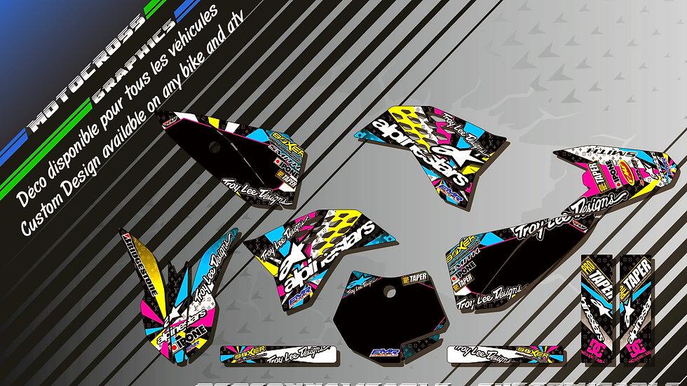 """""""ALPINESTARS CA4A"""" Graphic kit KTM 50 SX 02-18"""