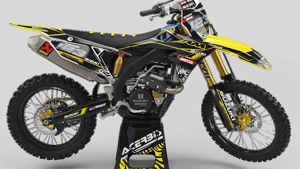 Custom dirt bike Graphics kit SUZUKI MOTUL black