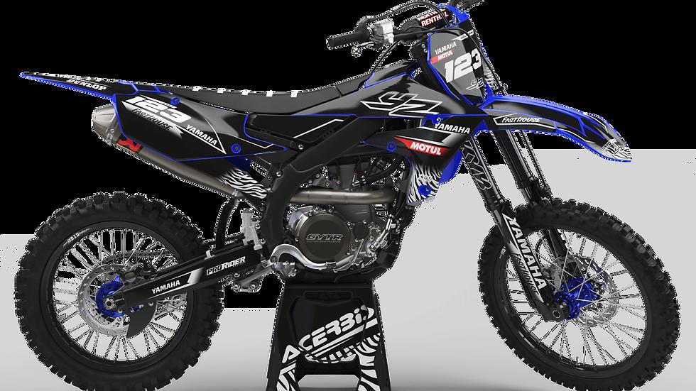 Custom dirt bike Graphics kit YAMAHA MOTUL BLACK and WHITE