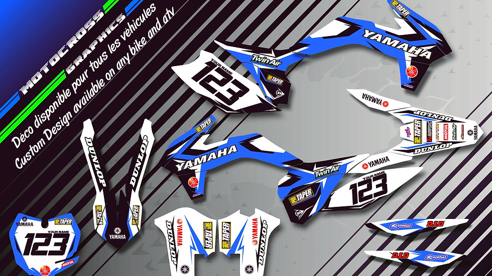 """Factory Replica YAMAHA CA10E"" Graphic kit YAMAHA WR 250R"