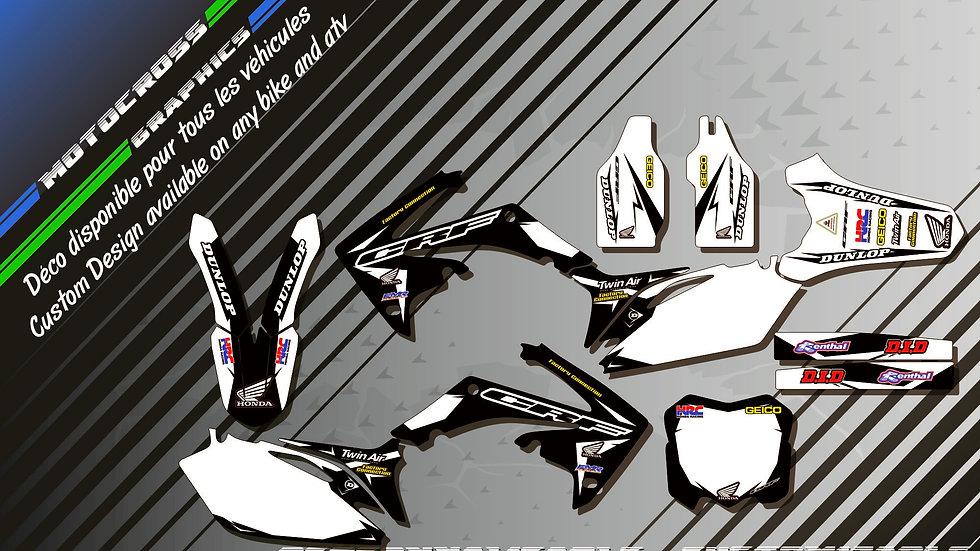 """Factory Black Edition KA10AB"" Kit Déco Perso CRF 250R 04-18"