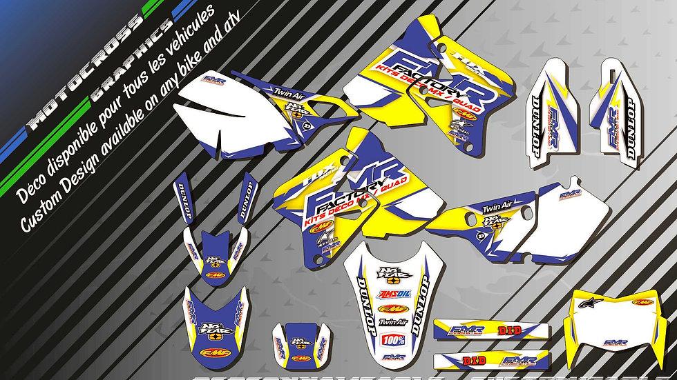 """""""Fmr Factory CA13D"""" Graphic kit SUZUKI DRz 400"""