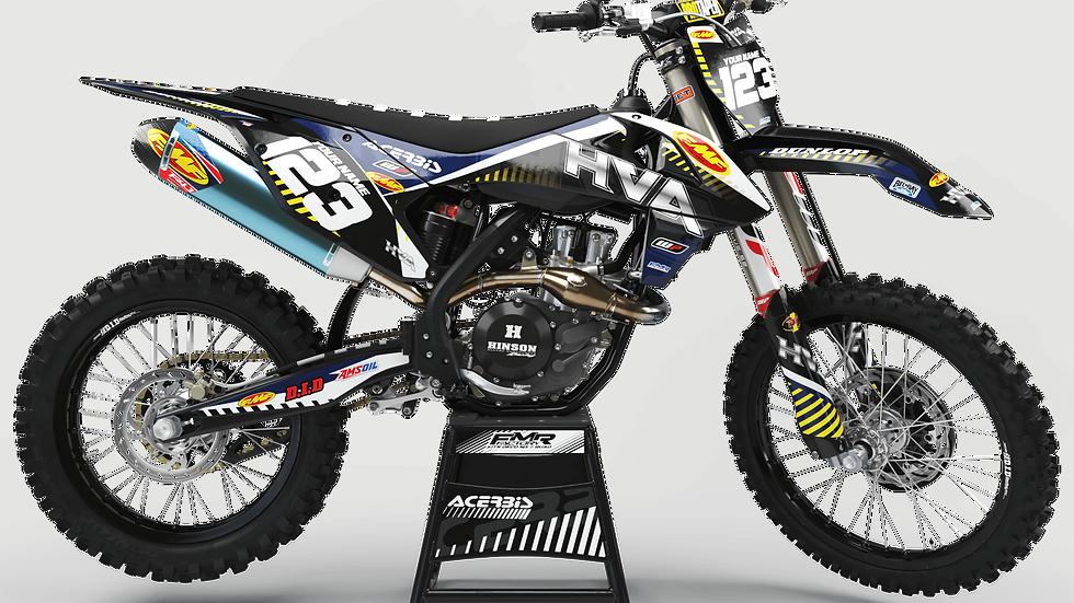 Custom dirt bike Graphics kit FMF CA12I Husqvarna