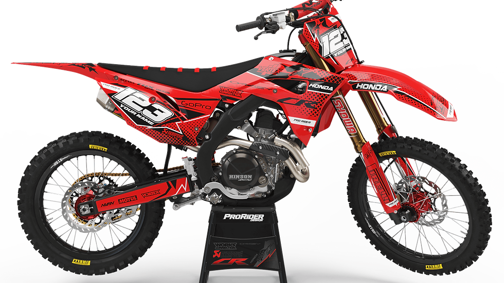 Custom dirt bike Graphics kit HONDA VERTEX RED CA39A4
