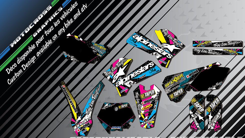 """ALPINESTARS CA4A"" Graphic kit KTM 85 & 105 SX 06-18"