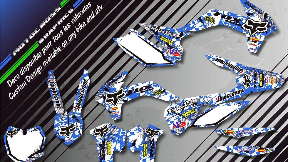 "Custom dirt bike Graphics kit ""FOX CA9E"""