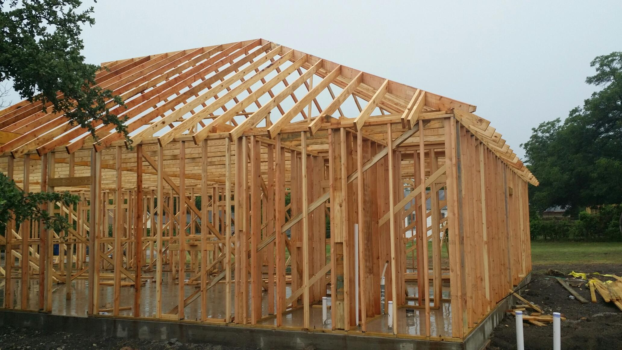Framing and Roofing complete