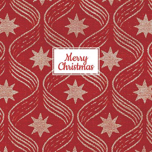 Christmas Card Stars and Ribbons