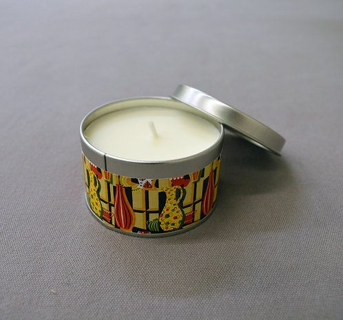 Painted Vases Candle Tin