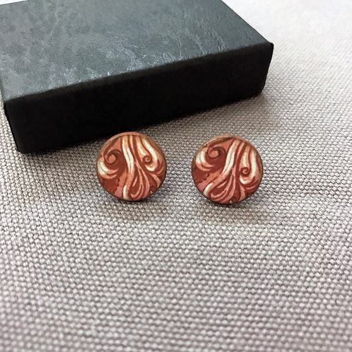 Abstract Swirl Earrings