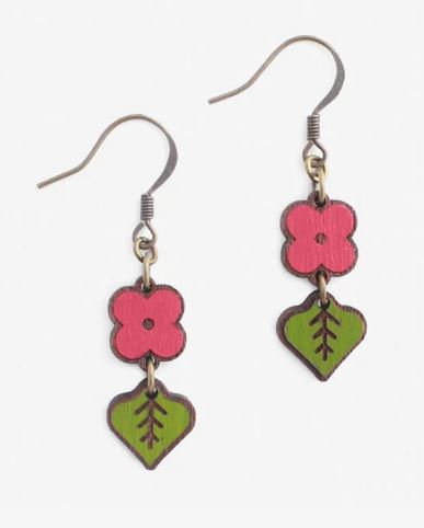 Raspberry Bud Earring