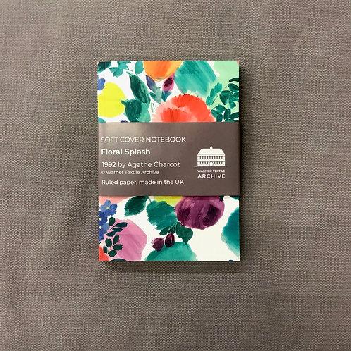 A6 Floral Splash Notebook