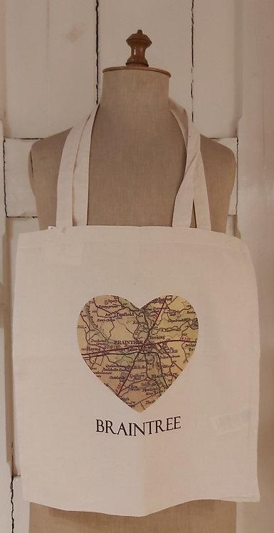 Heart Braintree Tote Bag