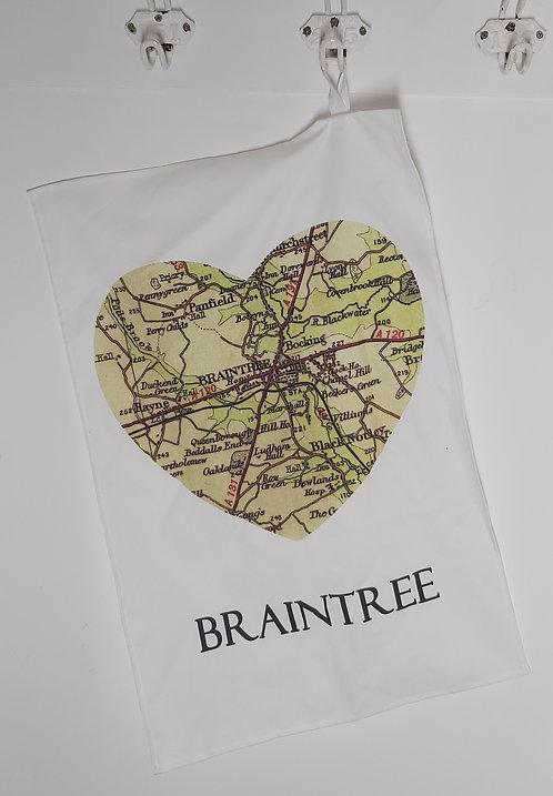 Heart Braintree Tea Towel