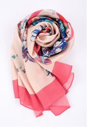 Floral Brights Silk Scarf
