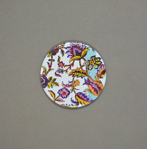 Indian Floral Pocket Mirror