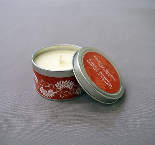 Rustic Ribbons Candle Tin