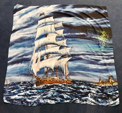 Midnight Sailing Silk Scarf