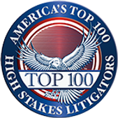 Americas Top 100 High Stakes Litigators.