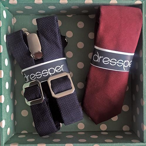 Box P + Gravata + Suspensório