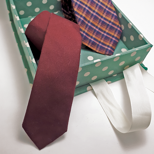 Box P + Gravata superslim ou slim