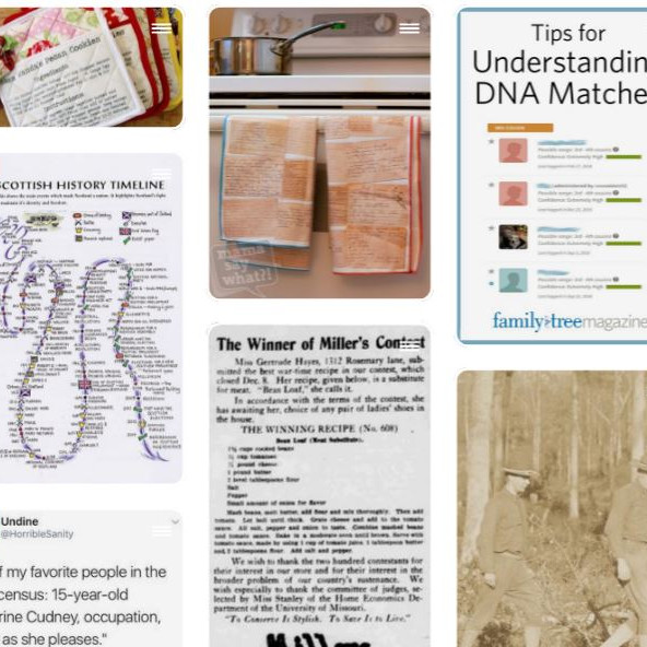 Pinning Together Your Genealogical Past on Pinterest