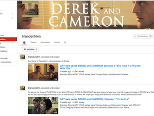 """Episode 4 of """"Derek & Cameron"""" almost avail! ...And Ep. 3 averaging 5,500 views/day!"""