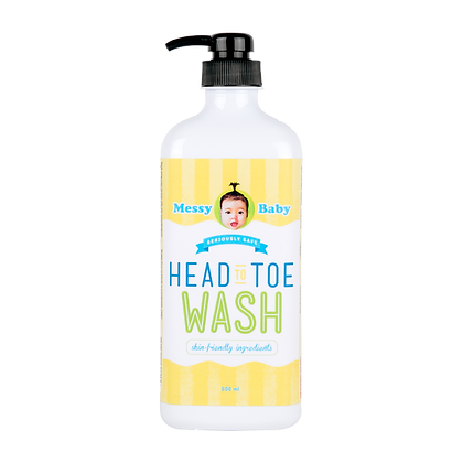 Messy Baby Head To Toe Wash (1-3 months expired)