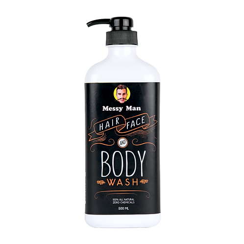 Messy Man Hair Face Body Wash 500ml