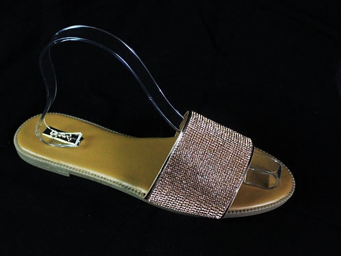 ROSE GOLD CRYSTAL SANDAL