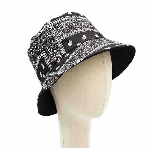 BLACK PAISLEY BUCKET HAT
