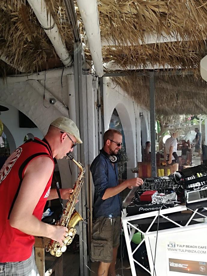 live sax dj deep house ibiza