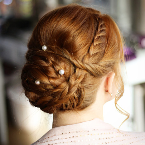 redhead bridesmaid hair essex wedding Crondon Park wedding venue essex