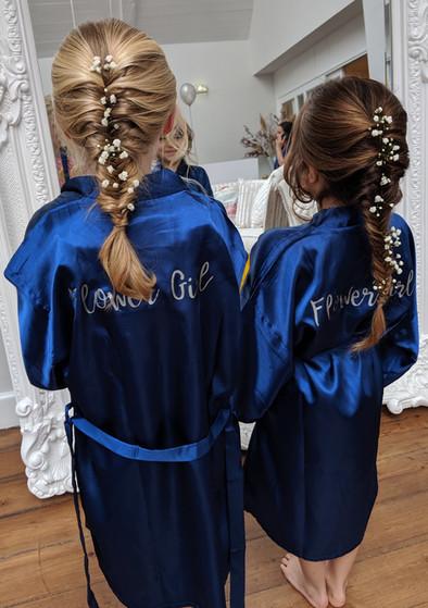Hutton Hall flower girls essex wedding hair bridesmaid hair