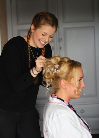 crondon park wedding essex hair up bride hair and makeup