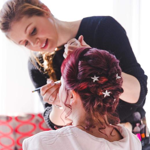 cliffs Pavillion essex wedding hair and makeup