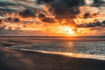 Sonnenuntergang  Strand von Spiekeroog