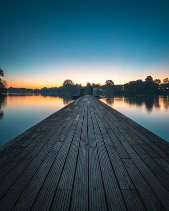 Sonnenaufgang am Aasee