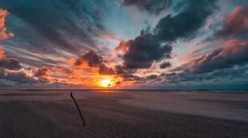 Sonnenuntergang auf Spiekeroog