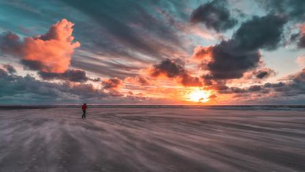 Stürmischer Sonnenuntergang
