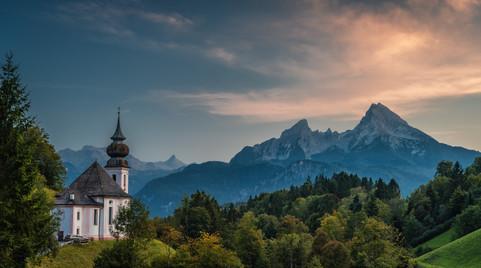 Die Wallfahrtskirche Maria Gern in Berchtesgaden