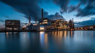 Blaue Stunde im Stadthafen Münster