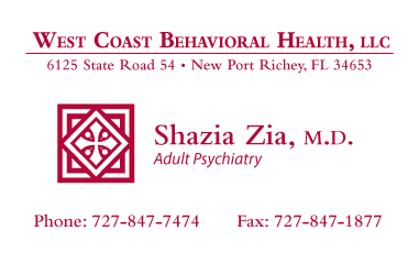 Shazia+MD+business+card