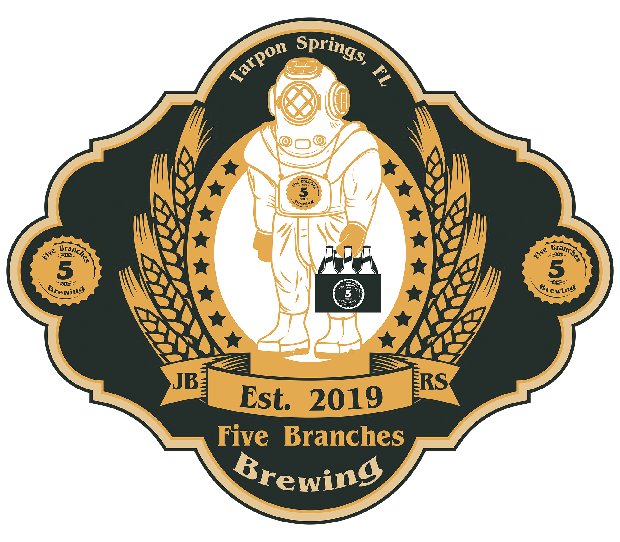 5 branches full fancy logo thumbnail
