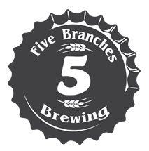 5 branches brewing bottle cap logo