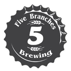 5 branches brewing bottle cap logo